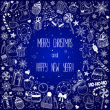 Christmas and New Year - sketch doodle set Royalty Free Stock Images