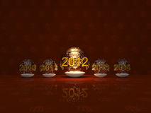 Christmas and New Year snow balls Royalty Free Stock Image