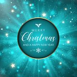 Christmas and New Year snowflakes background. Christmas and New Year background with snowflakes and stars Stock Photos