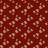 Christmas and New Year Snowflakes seamless pattern royalty free illustration