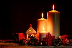 Christmas and New Year snug homish background Stock Photos