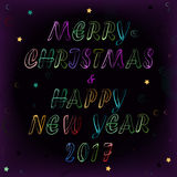 Christmas and New Year space card Stock Photography