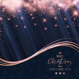 Christmas and New Year sparkle background. Christmas and New Year background with glittery stars royalty free illustration