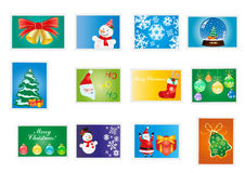 Christmas and new year stamps Royalty Free Stock Images