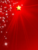 Christmas New Year star background Stock Photos