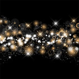 Christmas and new year starry background Royalty Free Stock Photos