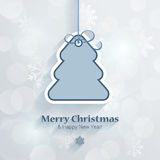 Christmas and New Year sticker style postcard template vector Stock Photography
