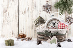 Christmas and New Year still life Stock Images