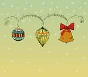 Christmas. And new year in the style retro Royalty Free Stock Photos