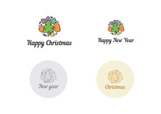 Christmas and New year symbol. Christmas and New year winter symbol Stock Images