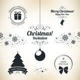 Christmas and New Year symbols. For designs postcard, invitation, poster and others royalty free illustration