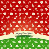 Christmas and New Year symbols Royalty Free Stock Images