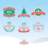 Christmas and New Year symbols for designs postcard, invitation, Royalty Free Stock Photography