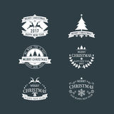 Christmas and New Year symbols for designs postcard, invitation, Royalty Free Stock Photo