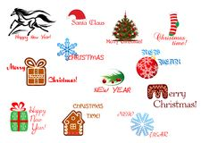 Christmas and New Year symbols Royalty Free Stock Photography