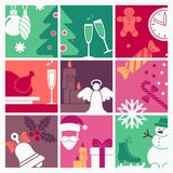 The symbols of new year and Christmas Royalty Free Stock Image
