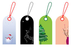 Christmas and New Year tags Royalty Free Stock Photo