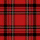 Christmas new year Tartan. Pattern Scottish cage. Christmas and new year tartan plaid. Scottish pattern in black, red and yellow cage. Scottish cage. Traditional royalty free illustration