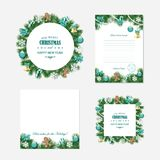 Christmas and New year templates. Christmas and New year templates - Santa Claus letter, decorative frames and backgrounds Royalty Free Stock Photo