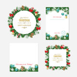 Christmas and New year templates. Royalty Free Stock Photo