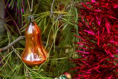 Christmas, New Year, Thanksgiving Day decoration and Christmas tree. royalty free stock photography