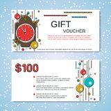 Christmas and New Year discount coupon Royalty Free Stock Photography