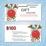 Christmas and New Year discount coupon Royalty Free Stock Photos