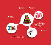 Christmas & New Year Time Line Design Stock Image