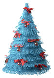 Christmas new year tree blue concept Stock Image
