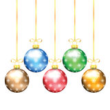 Christmas and New Year tree decorations Stock Photos