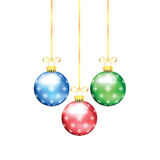 Christmas and New Year tree decorations Royalty Free Stock Images