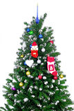 Christmas and New Year tree. Isolated. Over white royalty free stock images