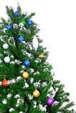 Christmas and New Year tree. Isolated. Over white stock photography