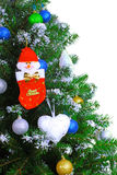 Christmas and New Year tree. Isolated Royalty Free Stock Photo