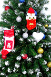 Christmas and New Year tree. Isolated Stock Image