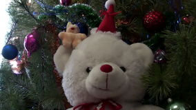 Christmas New Year Tree And Toys Hd stock video
