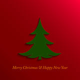 Christmas and new year tree Royalty Free Stock Photo