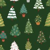 Christmas New Year tree vector icons ornament star xmas gift design holiday celebration winter season party tree plant Stock Photography
