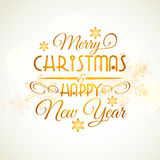 Christmas and New Year Typographic background. Stock Image