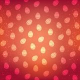 Vector pattern with decorative eggs. Easter holiday red background.Vector pattern. Stock Photos