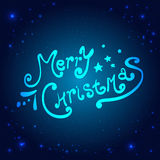 Christmas And New Year Typographical on shiny Xmas background with snowflakes, light, stars. Vector Illustration. Xmas. Card Royalty Free Stock Photos