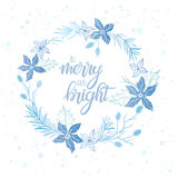 Christmas and New Year typography Royalty Free Stock Image