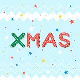 Christmas and New Year typography. Xmas - holidays greetings with snowflakes and stars.Seasons greetings card perfect for prints, flyers,cards,invitations and royalty free illustration
