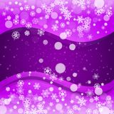 Christmas and New Year ultra violet snowflakes Royalty Free Stock Images