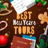 Christmas and New Year, vacations travel, tours Stock Photo