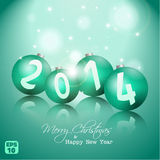 Christmas and New Year Vector background Stock Photo
