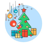 Christmas and New Year vector background Stock Photos