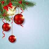 Christmas and New Year vector background Royalty Free Stock Photography