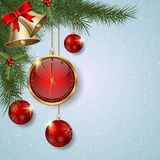 Christmas and New Year vector background Stock Photography