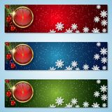 Christmas and New Year vector banners Stock Image